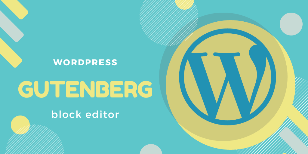 wordpress logo and gutenberg